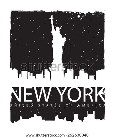 banner with of new york city