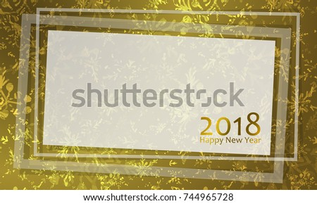 banner with paper with transparent glass frame border and empty space for text vector