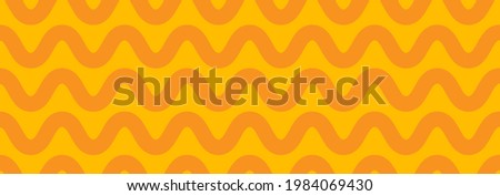 Banner with pasta. Abstract wavy lines for packaging. Seamless pattern with noodles. Element for menu Foto stock ©
