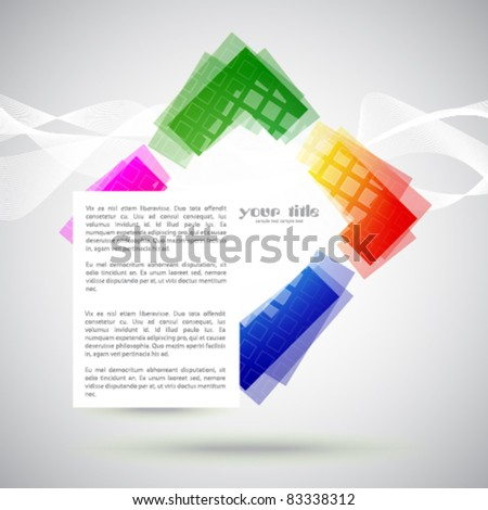 banner with rainbow colored shape / logo