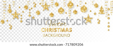 banner with sparkling christmas