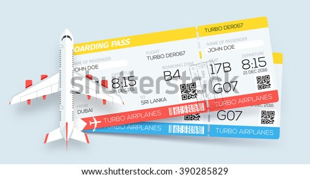 banner with two boarding pass