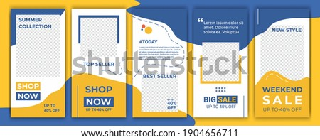 Banners bundle kit set of social media ig story. Layout for promotion. Geometric stories sale banner background, poster, flyer, coupon, layout composition gift card, smartphone templates