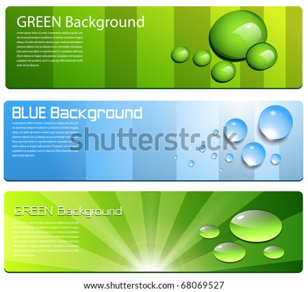 Banners collection, website backgrounds, vector.