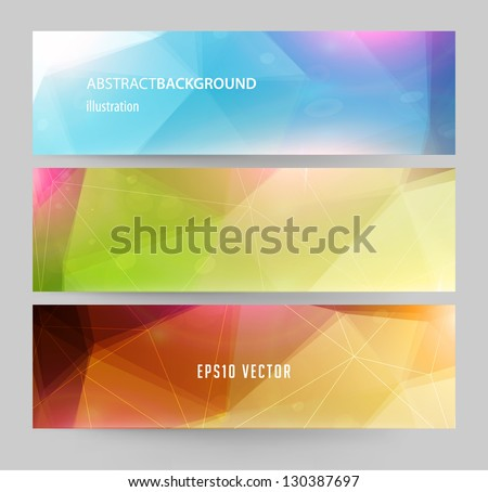 Banners for business modern design, eps10 vector illustration