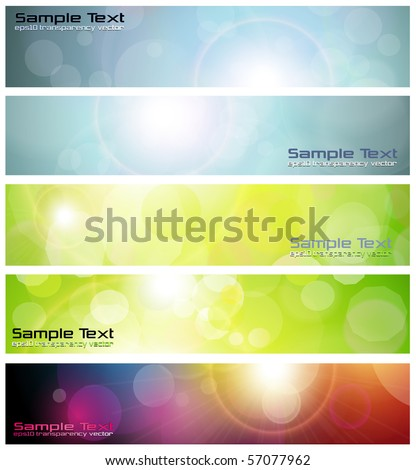 Banners, headers abstract lights, vector.