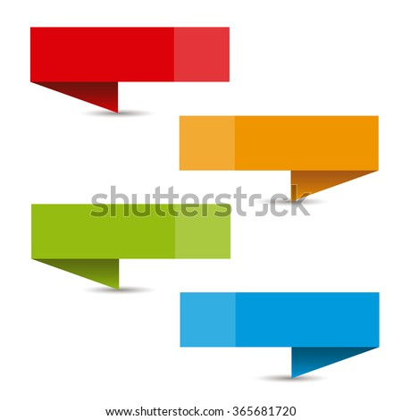 Banners in different colors for write texts, titles and indications