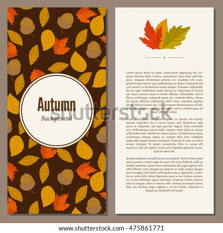 banners of autumn leaves vector ...