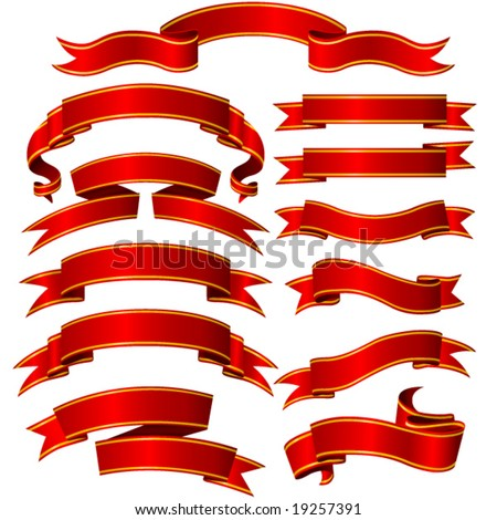 Banners set - stock vector