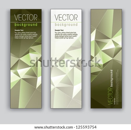 Banners. Set of Three. Modern Vector Design.