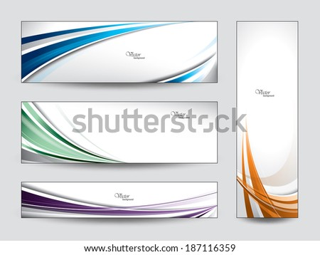 banners set of vector