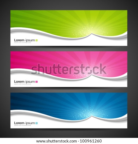 Banners sunlight design, colorful background. vector illustration