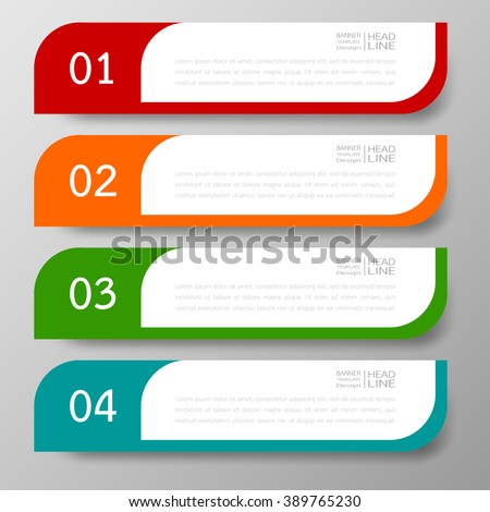 Banners template design Illustration vector business and text box infographics for presentation layout.