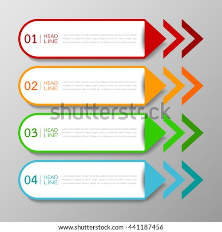 banners template tabs design