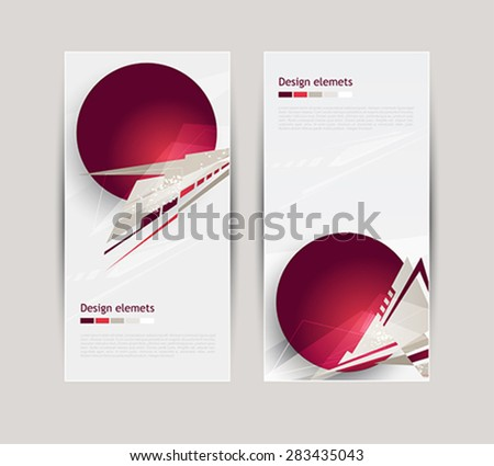 Banners with abstract geometric forms  #283435043