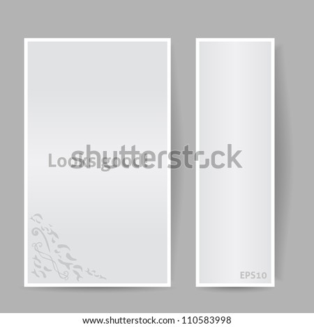 Banners with Shadow. Looks Good. Vector Illustration. Gray Color