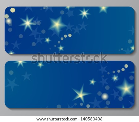 banners with shiny stars and