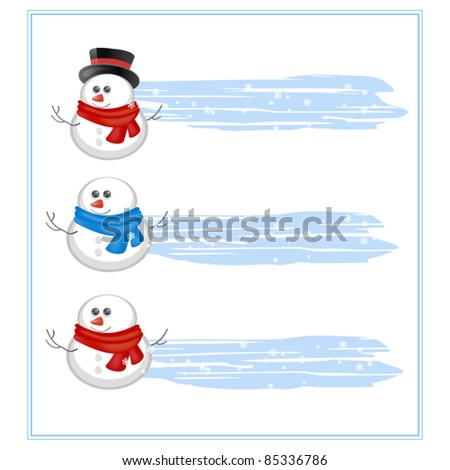 Banners with snowman