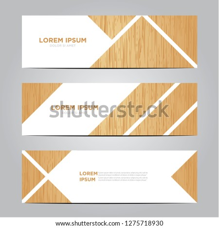 banners with wooden patterns. Eps 10 #1275718930