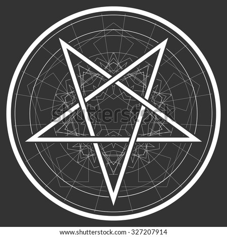 Vector Images Illustrations And Cliparts Baphomet Star Reversed
