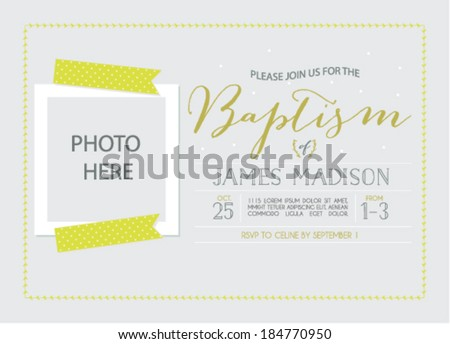 Baptism Invitation Download Free Vector Art Stock Graphics Images
