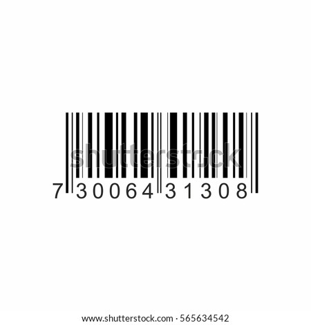Bar code icon vector design isolated on white background