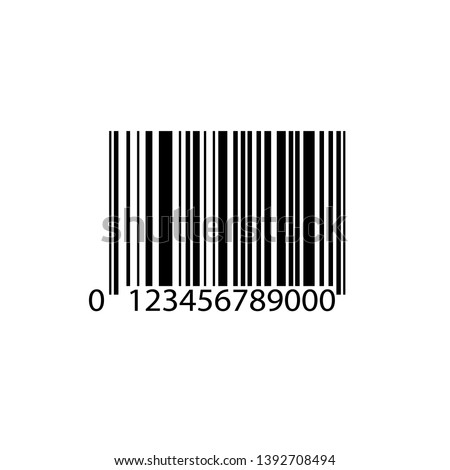 Bar code icon vector design isolated on white background. Vector illustration eps10.