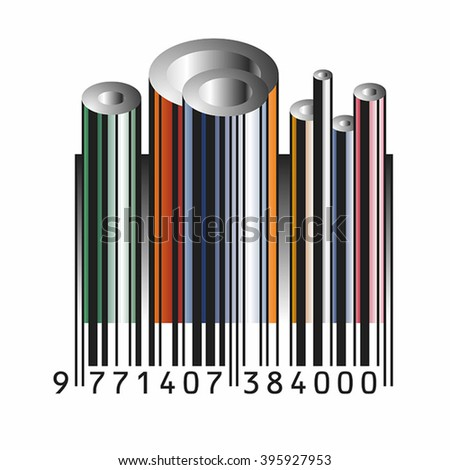 bar code   tube vector with