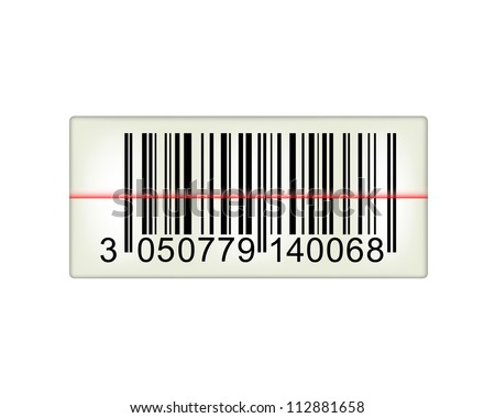 Bar code with laser light