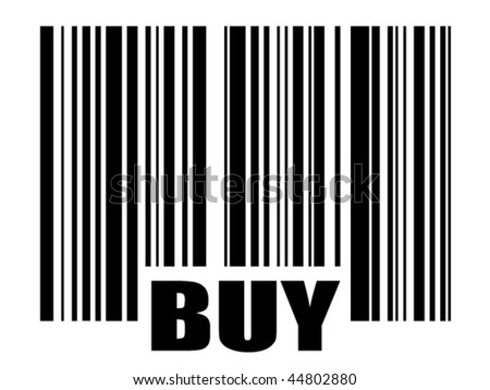 bar code with text - stock vector