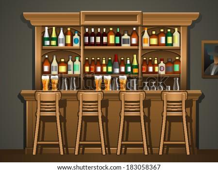 Vector Images, Illustrations and Cliparts: Bar Counter | Hqvectors.com