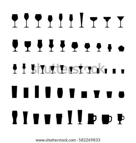 bar glassware black silhouette