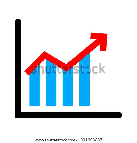 bar graph icon - graph chart isolated , growth diagram illustration - Vector chart