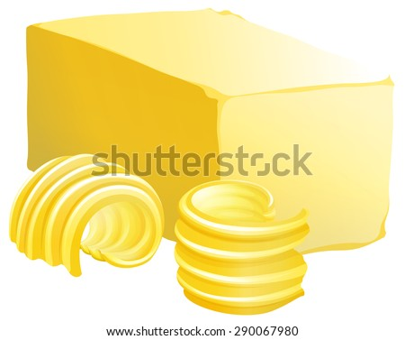 bar of butter with two slices