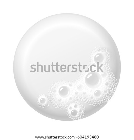 Bar of soap with foam isolated on white. Easy recolored vector. Eps10. RGB. Global colors