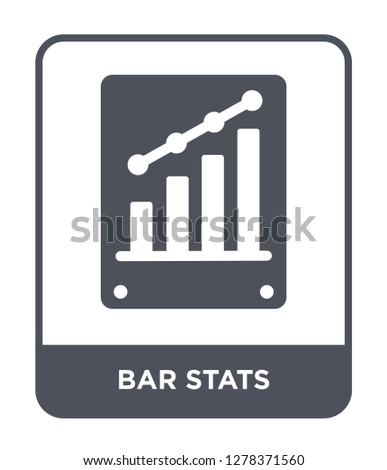 bar stats icon vector on white background, bar stats trendy filled icons from Business and analytics collection, bar stats vector illustration
