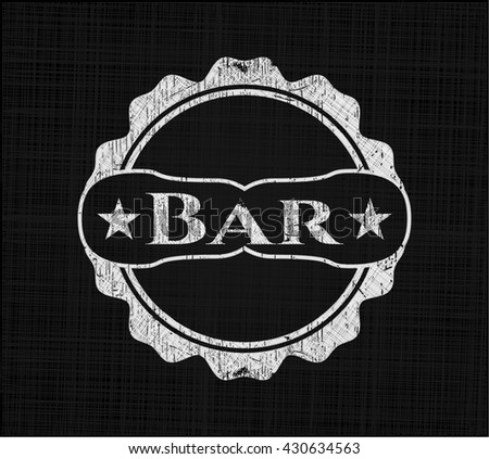 Bar with chalkboard texture