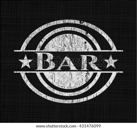 Bar written on a blackboard