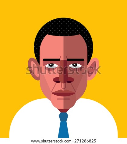 barack obama portrait vector