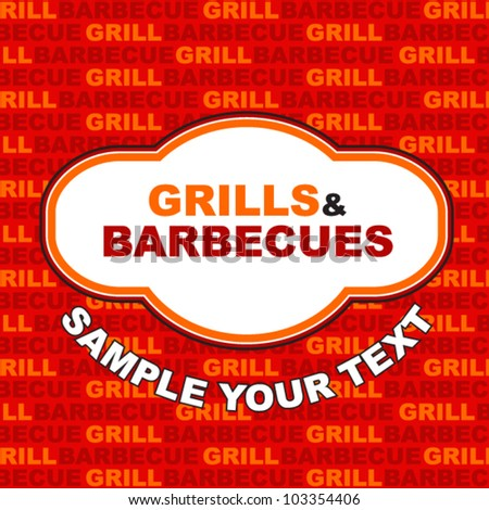 Barbecue and grill label design.