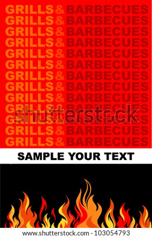 Barbecue background.