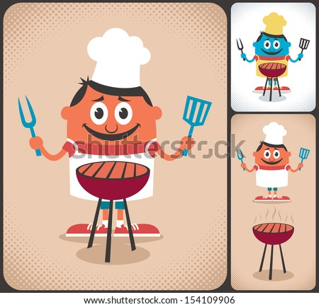barbecue  cartoon character...