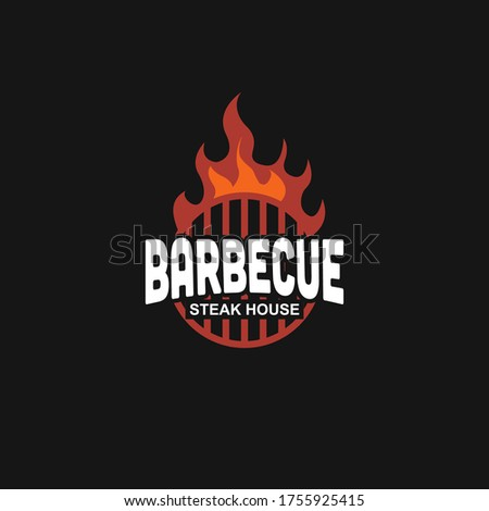 barbecue emblems template logo design inspiration. BBQ and Steakhouse Quality symbol icon vector illustration