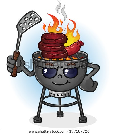 barbecue grill cartoon