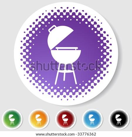 barbecue grill halftone