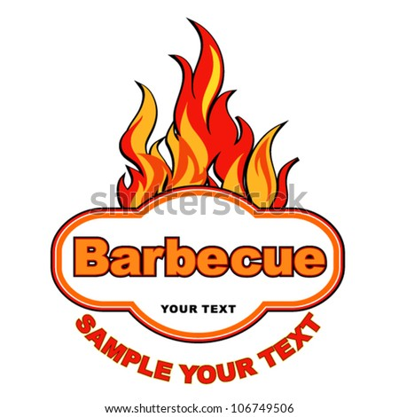 Barbecue label. - stock vector
