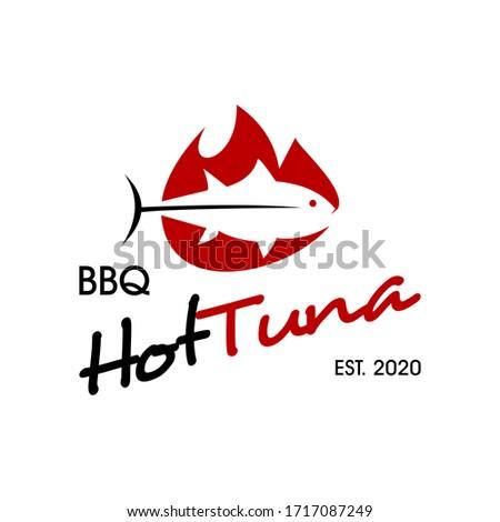 barbecue logo simple fish