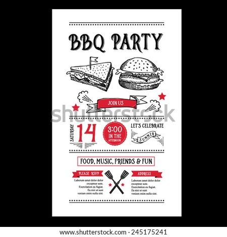 barbecue party invitation bbq