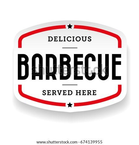 Barbecue vintage label sign vector