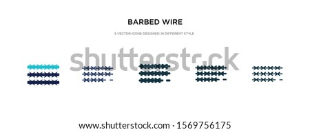 barbed wire icon in different